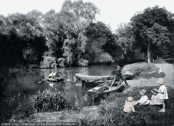 Photo of Darlington, South Park Lake 1923, ref. 74333p