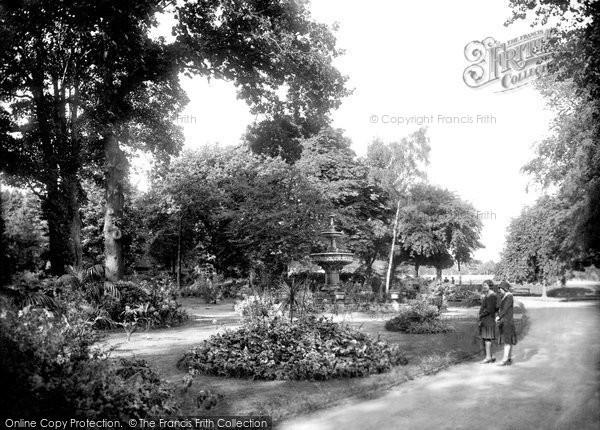 Photo of Darlington, South Park, Tropical Gardens 1929, ref. 82534