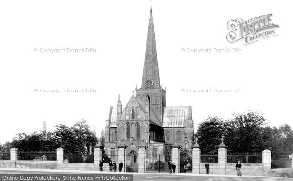 Photo of Darlington, St Cuthberts Church 1898, ref. 41658