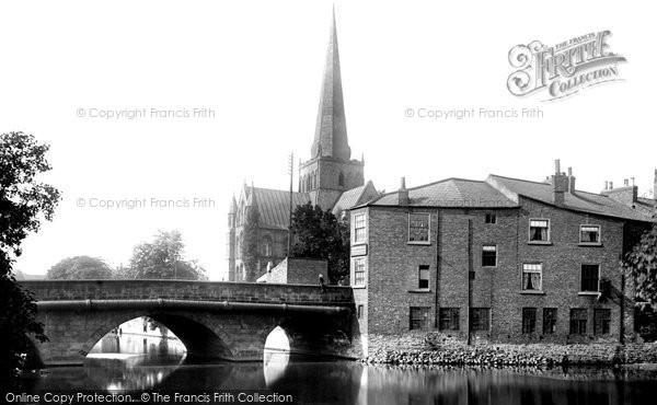 Photo of Darlington, the Church and Skerne Bridge 1893, ref. 32321