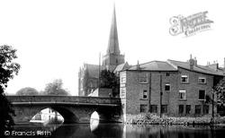Darlington, St Cuthbert's Church And Skerne Bridge 1893
