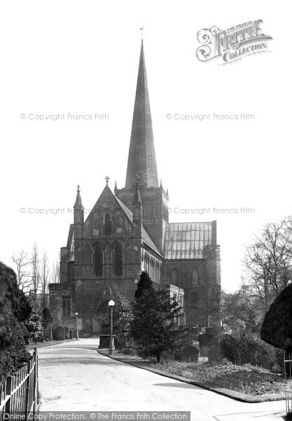 Photo of Darlington, St Cuthbert's Church west 1926, ref. 79031c