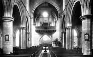 Darlington, St Cuthbert's Church, The Interior 1896