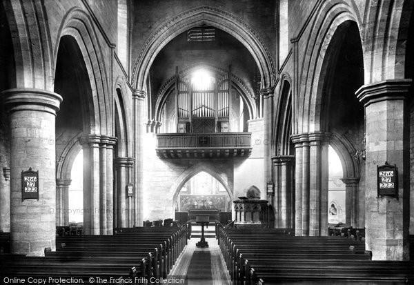 Photo of Darlington, St Cuthbert's Church, the interior 1896, ref. 37529