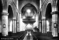 Darlington, St Cuthbert's Church, The Interior 1896
