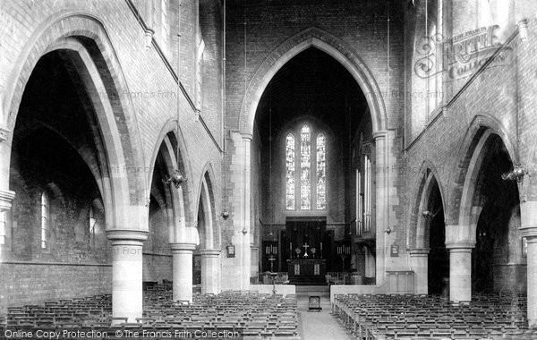 Photo of Darlington, St Hilda's Church interior 1893, ref. 32324