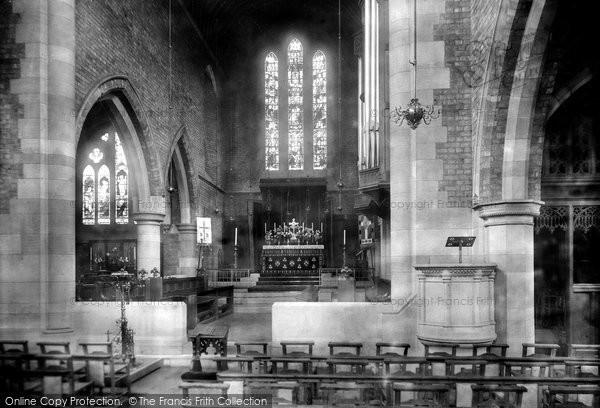 Photo of Darlington, St Hilda's Church, the interior 1900, ref. 45302