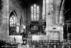 Darlington, St Hilda's Church, The Interior 1900