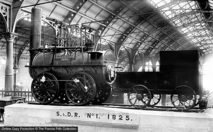 Photo of Darlington, Stockton & Darlington Railway, 'locomotion' No.1 Engine 1892