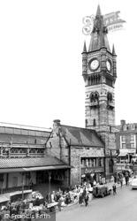 Darlington, The Town Clock c.1965