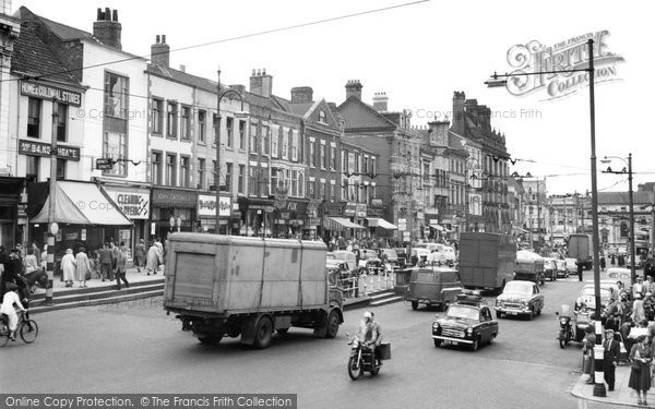 Photo of Darlington, Town Centre 1957, ref. d2012