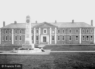 Darlington, War Memorial and New Hospital c1935