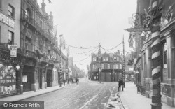 Dartford, High Street, Decorated For The Coronation 1911