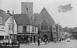 Dartford, Holy Trinity Church c.1955