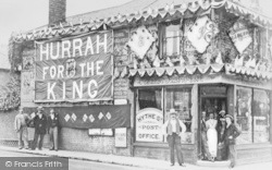 Hythe Street Post Office Decorated For The Coronation 1902, Dartford