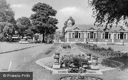 The Park And Library c.1955, Dartford