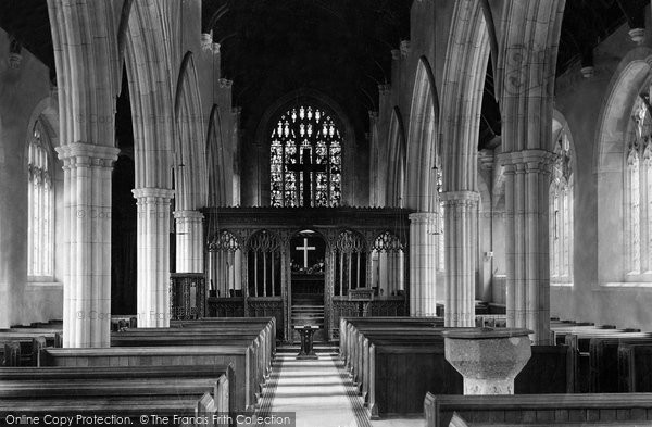 Dartington, Church interior 1890