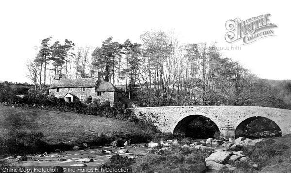 Dartmeet, Bridge and Cottage c1871