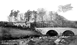 Dartmeet, Bridge And Cottage c.1871