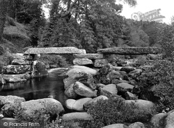 The Clapper Bridge 1925, Dartmeet