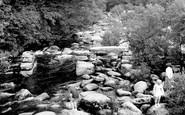 Dartmeet, the River Dart and Clapper Bridge c1965