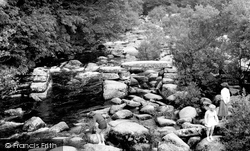 The River Dart And Clapper Bridge c.1960, Dartmeet