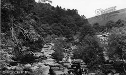 The River From The Bridge c.1960, Dartmeet