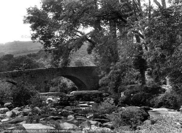 Dartmeet, the Two Bridges 1925