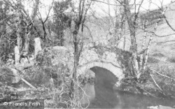 Dartmoor, An Old Bridge, Becky Falls c.1930
