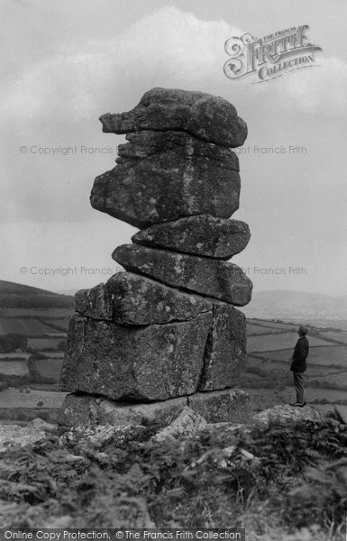 Photo of Dartmoor, Bowerman's Nose Tor c1930, ref. D6033
