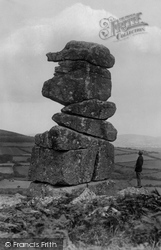 Dartmoor, Bowerman's Nose Tor c.1930