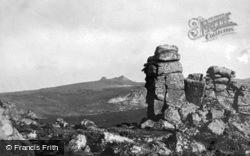 Buckland Beacon From Hound Tor c.1930, Dartmoor