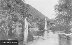 Dartmoor, Fingle Bridge c.1930
