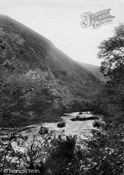 Dartmoor, Fingle Glen, River Teign 1910