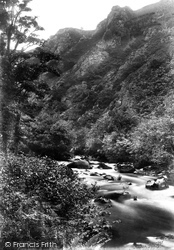 Dartmoor, Fingle Glen, Sharp Tor 1910