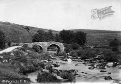 Hexworthy Bridge, River Dart 1890, Dartmoor