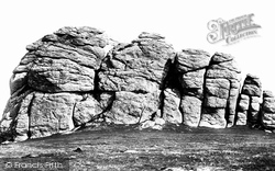 Dartmoor, Heytor Rocks From West c.1869