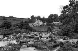 Dartmoor, River Dart, Dartmeet Bridge 1890