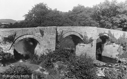 Dartmoor, The New Bridge, Spitchwick c.1930