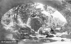 Dartmoor, The Old Bridge From Under The New, Dartmeet c.1930