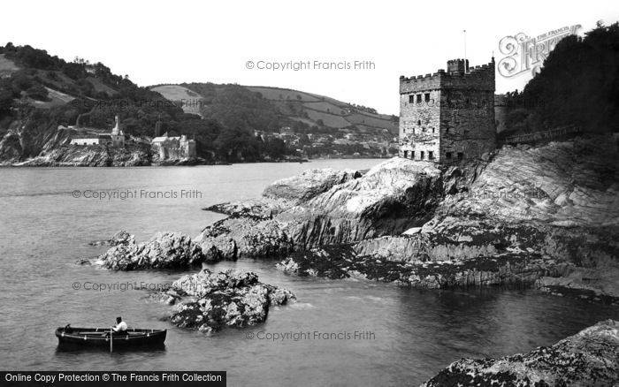 Dartmouth, Kingswear Castle and Dartmouth Castle c1875