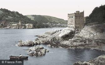 Dartmouth, Kingswear Castle and Dartmouth Castle c1875