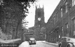 Darwen, Parish Church From Church Street c.1955