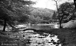 Darwen, Sunnyhurst Wood, Paddling Pool c.1950
