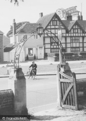 Datchet, A Lady Cyclist c.1960