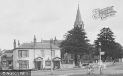 Datchet, The Royal Stag And Church c.1955