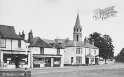 Datchet, The Royal Stag, Church And Shops c.1960