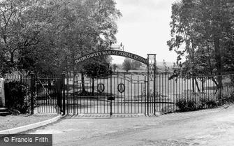 Dawley, Park, War Memorial Gates c1955