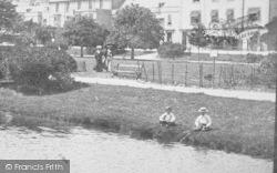 Boys Fishing, The Lawns 1903, Dawlish