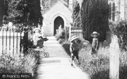 Children In St Michael's Churchyard 1906, Dawlish